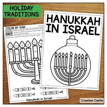 Kindergarten Christmas Around the World No Prep Printables