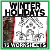 Kindergarten Christmas Around the World No Prep Worksheets