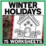 Kindergarten Christmas Around the World No Prep Printables