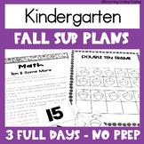 Emergency Sub Plans | Kindergarten | Fall | Google Distanc