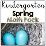 Kindergarten No Prep Spring Math Pack