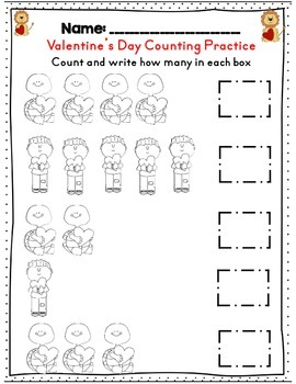 Kindergarten *No Prep* Valentine's Day Math & ELA Activity Set