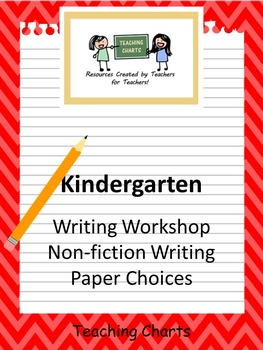 Kindergarten Non-Fiction Writing Paper (Lucy Calkins Inspired)