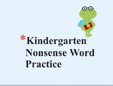 Kindergarten Nonsense Word Practice Flashcards