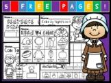 Kindergarten November Language Arts Freebie! (Common Core