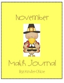 Kindergarten November Math Journal