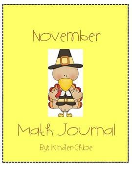 Kindergarten November Math Journal