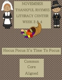 Kindergarten Rhymes Literacy Center Week 3 & 4