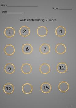 Kindergarten Number & Addition Math Worksheets