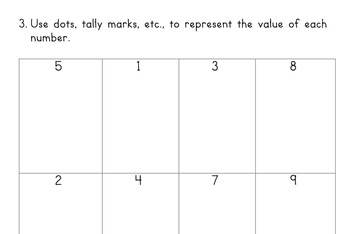 Kindergarten Number Assessment 0-30