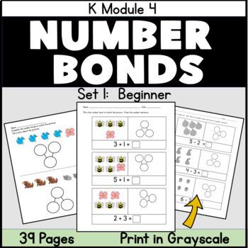 Kindergarten Number Bonds: Practice and Reteaching: Sets 1, 2 and 3