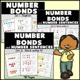 Kindergarten Number Bonds: Practice and Reteaching: Sets 1