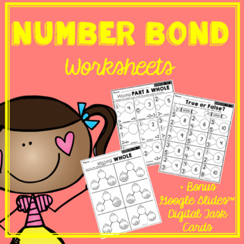 Number Bonds Worksheet Teaching Resources Teachers Pay Teachers