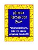 Kindergarten Number Book