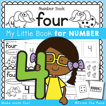 Number Workbook - Number Four - 5 Day Booklet