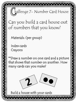Kindergarten Number Card House