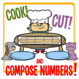 Kindergarten Number Chop - Cook, Cut & Compose Numbers 3 - 10!