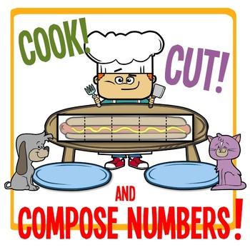 Kindergarten Number Chop - Cook, Cut & Compose Numbers 3 - 10!