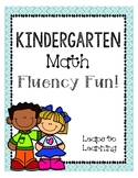 Kindergarten Number Fluency Fun