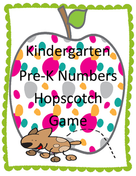 Kindergarten Number Hopscotch Game