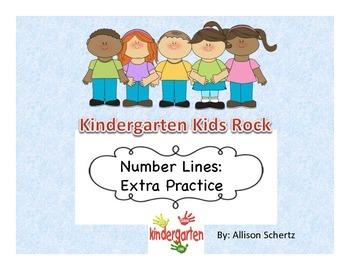 Kindergarten Number Line Practice