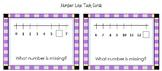 Kindergarten Number Line Task Cards - K.CC.A.1, K.CC.A.2, K.CC.A.3, K.CC.3.7