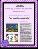 Kindergarten Number Name, Recognition, Number Sense, K.CC3, K.CC4, K.CC4a, b, c