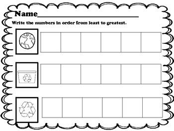Kindergarten Number Order Activity