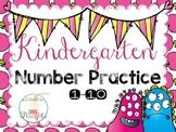Kindergarten Number Practice 1-10 {Chinese characters}