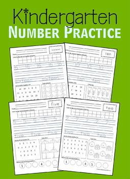 Kindergarten Number Practice 1-20