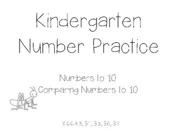 Kindergarten Number Practice to 10