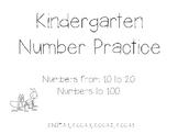 Kindergarten Number Practice to 100