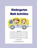 Kindergarten Number Practice with Cut and Paste