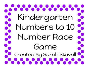 Kindergarten Number Race Game