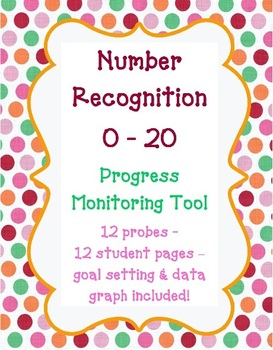 Kindergarten Number Recognition 0-20 Progress Monitoring ...