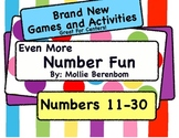 "Number Recognition Numbers 11-30: ""Even More Number Fun"""