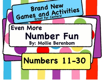 """Number Recognition Numbers 11-30: """"Even More Number Fun"""""""