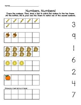 Kindergarten Number Recognition with Ten Frame