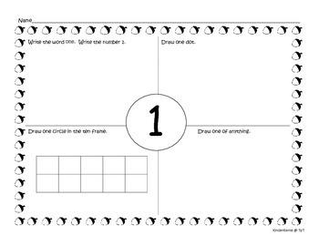 Kindergarten Number Sense - Four Squares!