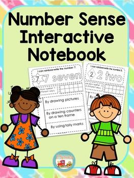 Kindergarten Number Sense Interactive Notebook Fun