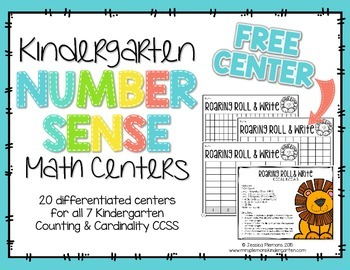 Kindergarten Math Centers:  Number Sense FREEBIE