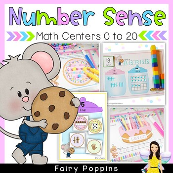 Kindergarten Number Sense Math Centers (0 to 20) - Sweet Treats *New*