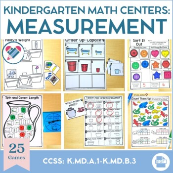 Kindergarten Measurement and Data Math Centers