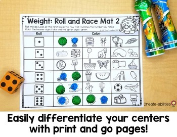 Kindergarten Measurement and Data Math Centers