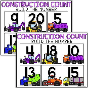 Kindergarten Number Sense Math Centers & Activities for K.CC.B.5