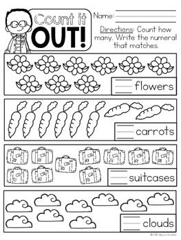 Kindergarten Number Sense Printables