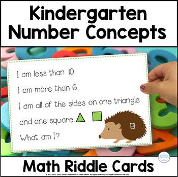 Kindergarten Number Sense Riddle Cards FREE