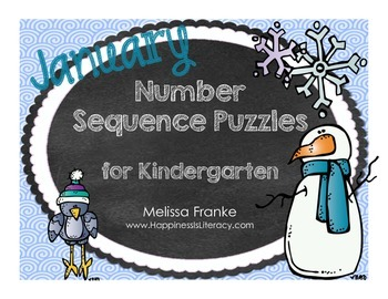 Kindergarten Number Sequence Puzzles for January