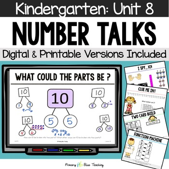 Kindergarten Number Talks ~ April ~ Common Core Aligned