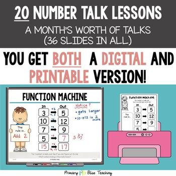 Kindergarten Number Talks ~ Unit 8  (April)